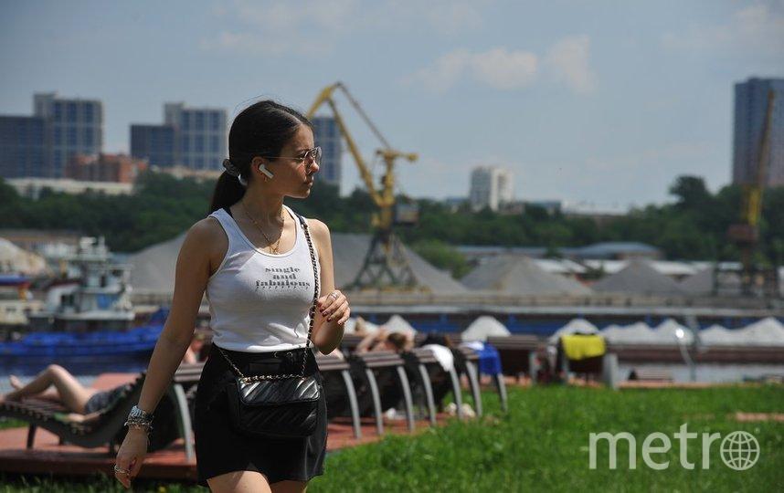 """Москвичи чаще стали гулять и наслаждаться летом. Фото агентство """"Москва"""""""
