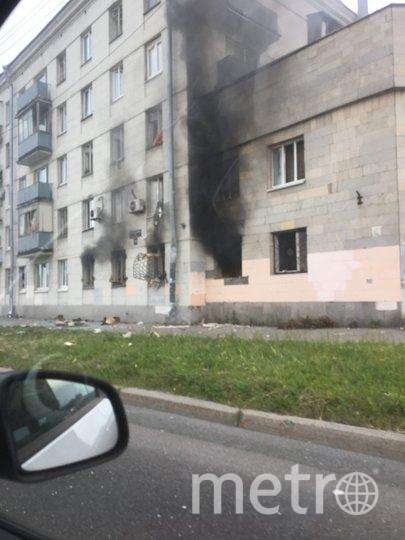 Крупный пожар на Краснопутиловской улице в Петербурге. Фото ДТП/ЧП, vk.com