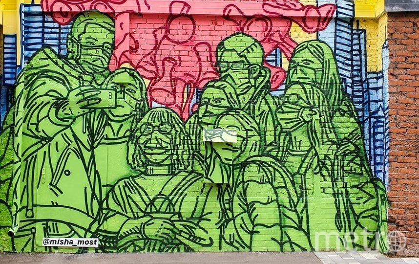 """Граффити на стене дизайн-завода """"Флакон"""", посвященное пандемии коронавируса. Фото агентство """"Москва"""""""