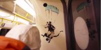 Бэнкси в лондонском метро нарисовал крыс и заснял процесс на видео