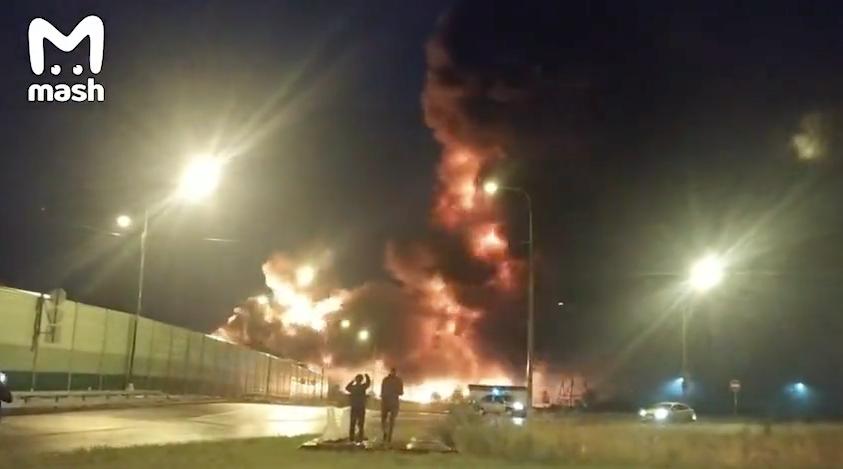 Пожару был присвоен второй повышенный ранг сложности. Фото Телеграм-Канал Mash
