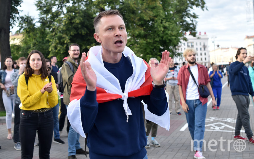 Кадр с акции протеста в Минске. Фото AFP