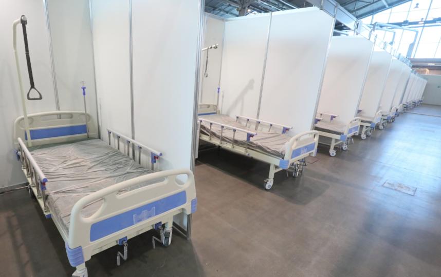 """Сотрудники временного стационара вернутся в госпиталь для ветеранов войн. Фото gov.spb.ru, """"Metro"""""""