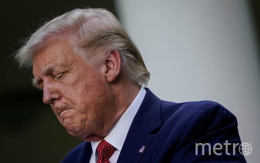 Волосы Дональда Трампа выглядят седыми. Фото сделано 15 июля. Фото Getty