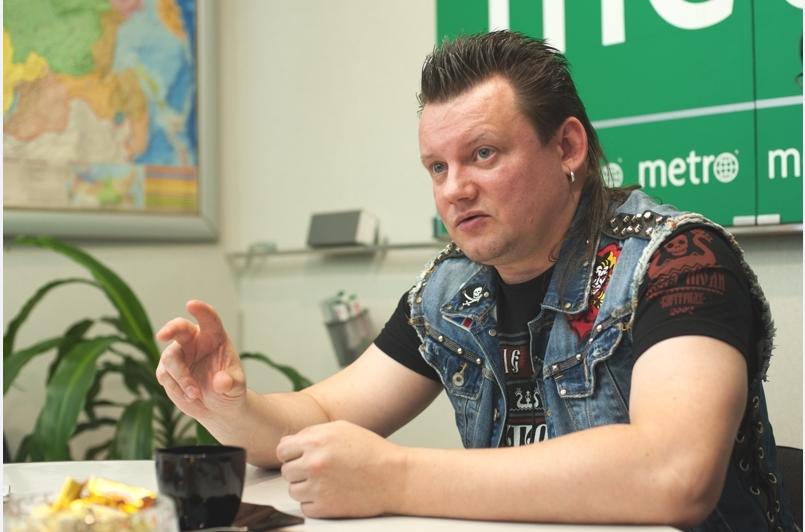 """Лидер группы Андрей Князев в гостях у Metro. Фото """"Metro"""""""