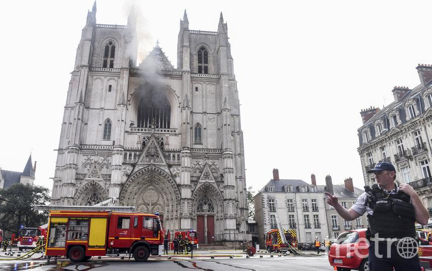 Фото с места пожара. Фото AFP