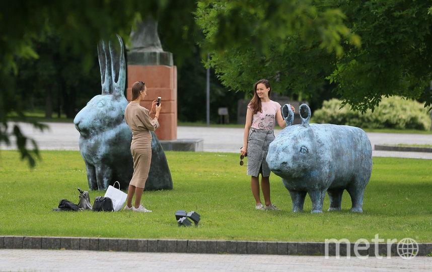 Взрослые и дети в восторге от новых скульптур. Фото Василий Кузьмичёнок