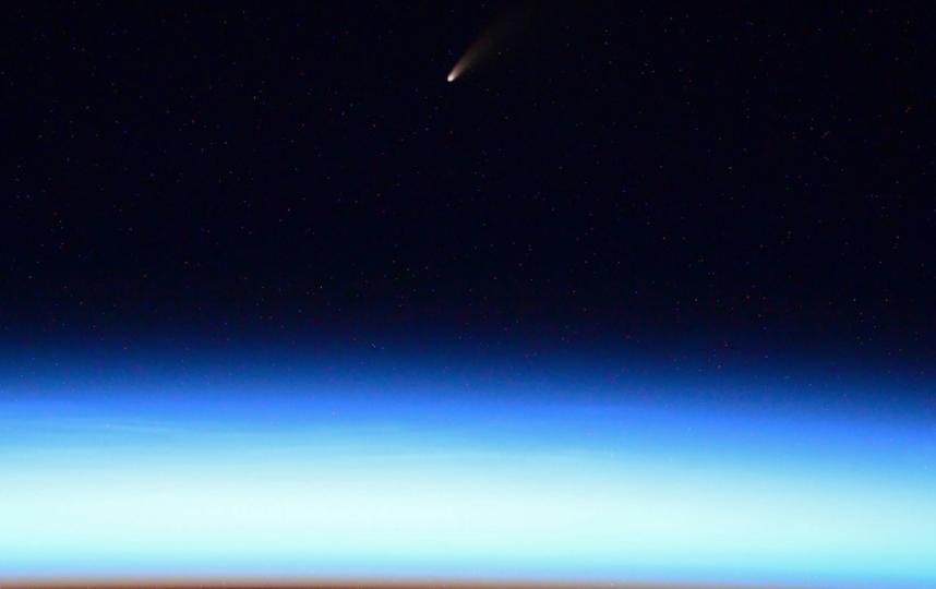 "Фотография кометы C/2020 F3 (NEOWISE). Фото Скриншот Twitter: @ivan_mks63, ""Metro"""