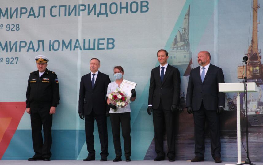 """Церемония закладки шести кораблей для ВМФ. Фото gov.spb.ru, """"Metro"""""""