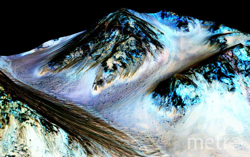 В 2015 году ученые обнаружили замёрзшую соль на склонах марсианского кратера Хейл. Это открытие подтвердило гипотезу о том, что на Марсе существовали моря, которые впоследствии замёрзли. Фото Getty