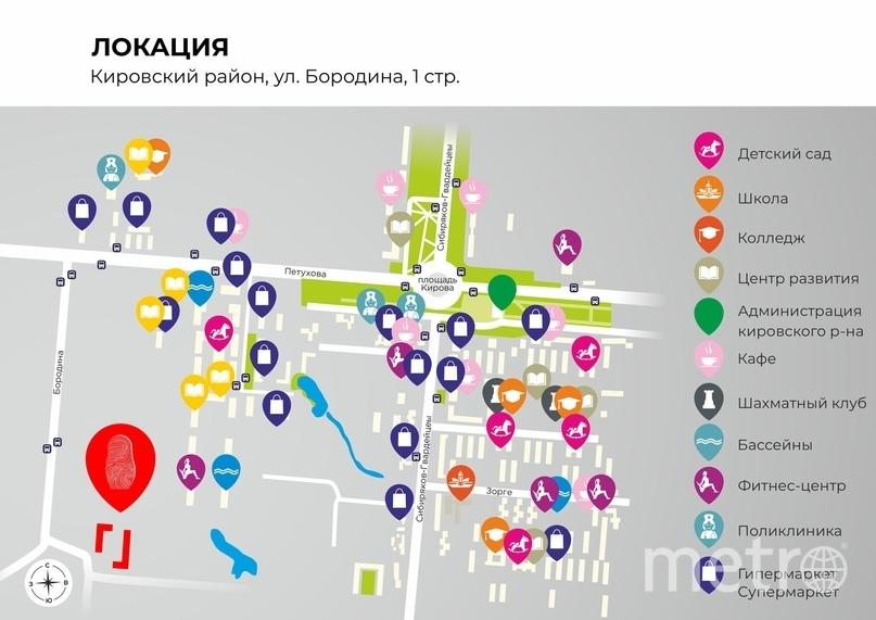 локация ЖК «Новые Матрёшки».