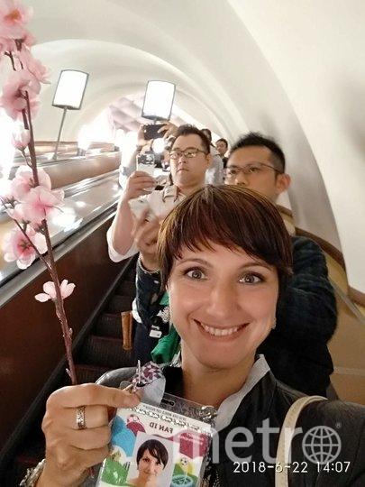 """Анна Рева, гид для групп из Японии. Фото из личного архива, """"Metro"""""""