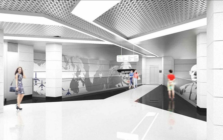 Дизайн новой станции. Фото Пресс-служба Москомархитектуры