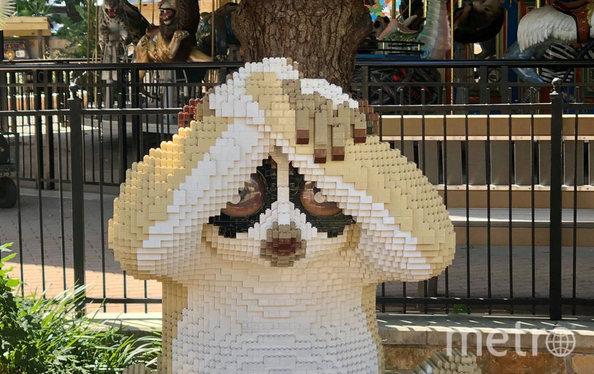 Скульптура лемура. Фото San Antonio Zoo