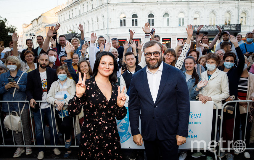 Президент фестиваля Михаил Пореченков и генеральный продюсер Оксана Михеева. Фото Анна Темерина