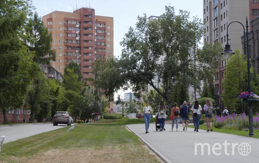 Улица Дачная в Новосибирске.
