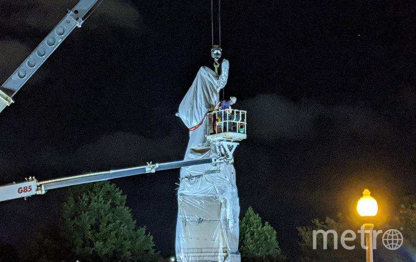 """Статуи Христофора Колумба были удалены из Грант-Парка и парка Арриго до """"дальнейшего уведомления"""". Фото AFP"""