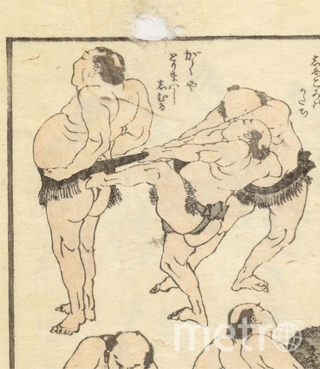 Борцы сумо, присланные Мемориальным музеем укиё-е Ота. Фото twitter, @+ukiyoeota