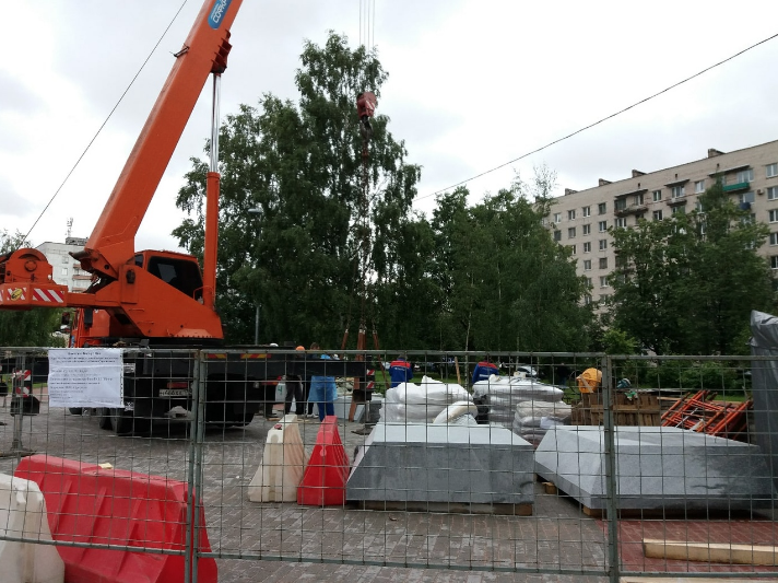 "На объекте ведутся работы. Фото https://vk.com/mo_dachnoe, ""Metro"""
