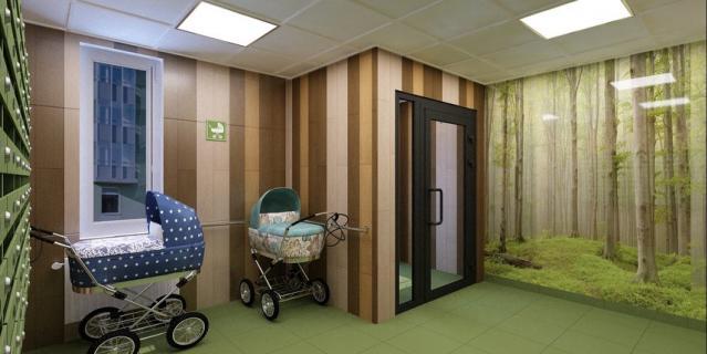 В современных домах устраивают колясочные. Это экономит силы, а также место непосредственно в квартире.