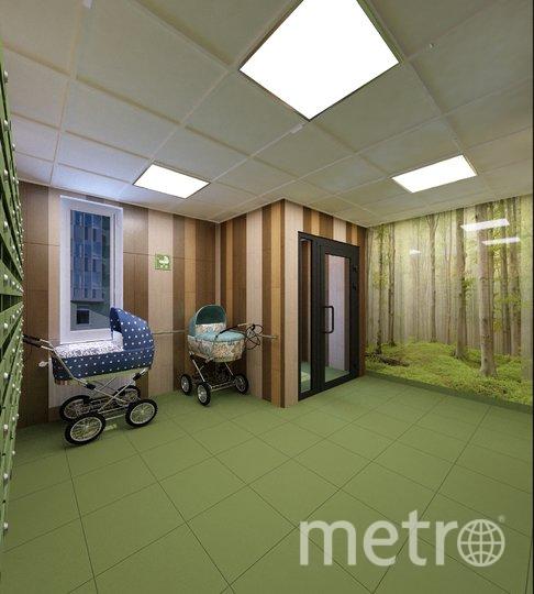 В современных домах устраивают колясочные. Это экономит силы, а также место непосредственно в квартире. Фото ГК «КВС»