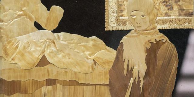 Георгий ещё в 70-х начал делать картины из соломки, создал и возглавил студию флористики.