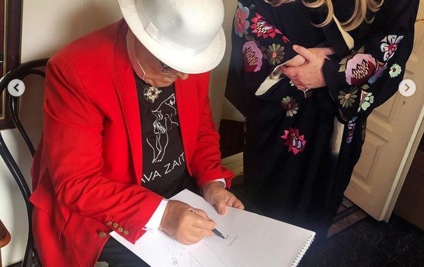 Вячеслав Зайцев продолжает рисовать. Фото Instagram @tatyanamixalkova