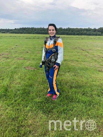 Грачёва после приземления. Фото предоставила Маргарита Грачёва