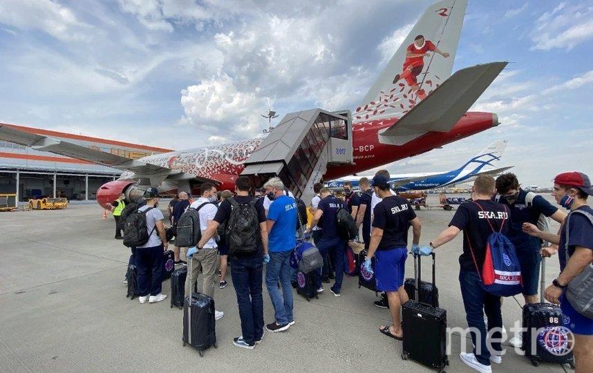 СКА отправляется обратно в Петербург. Фото ХК СКА
