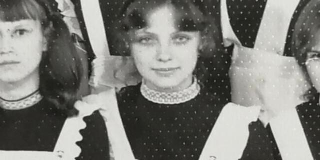 Лариса Савицкая – школьница.