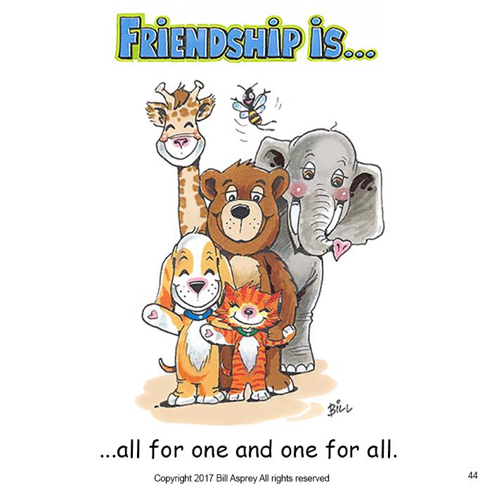 Дружба это один за всех и все за одного. Фото Bill Asprey