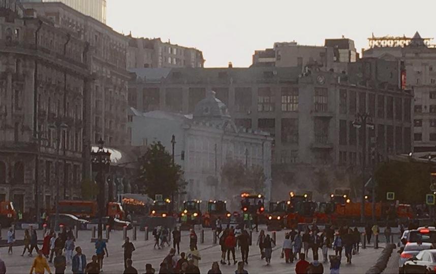 Работы ведутся от улицы Моховой до Настасьинского переулка. Фото Instagram @d.pantyushin