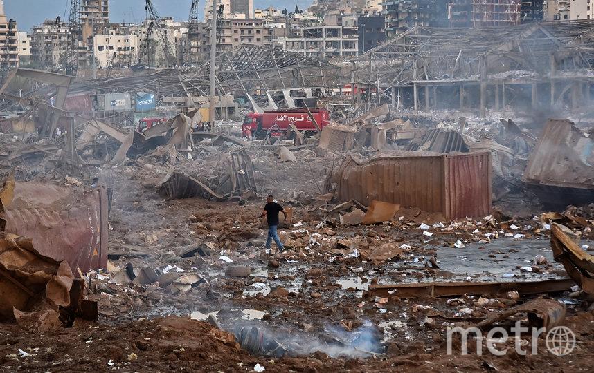 В нескольких километрах от эпицентра взрывной волной выбило стёкла. Фото AFP