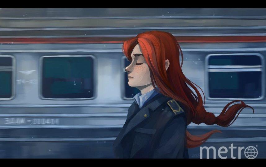 """Рисунок Софьи, посвящённый любимой и желанной работе. Фото предоставлено героиней материала, """"Metro"""""""