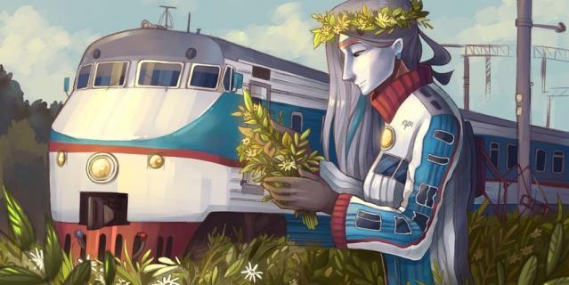Поезд метро тоже стал одним из героев, вернее – героинь комиксов Софьи.