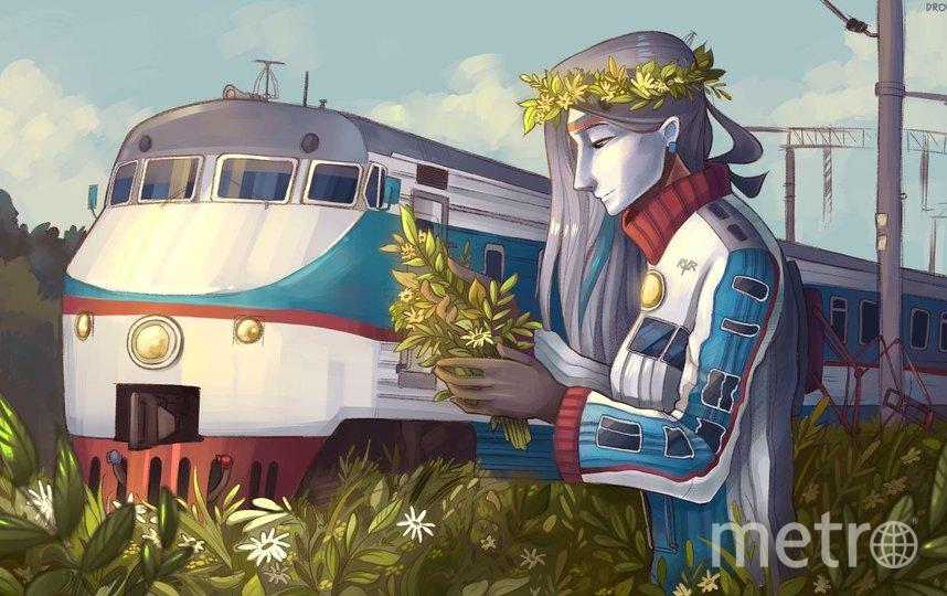 """Поезд метро тоже стал одним из героев, вернее – героинь комиксов Софьи. Фото предоставлено героиней материала, """"Metro"""""""