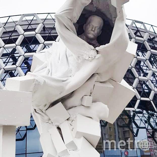 """Бюст использованный в скульптуре напоминает Ильича. Фото Ильяс Хафизов, """"Metro"""""""
