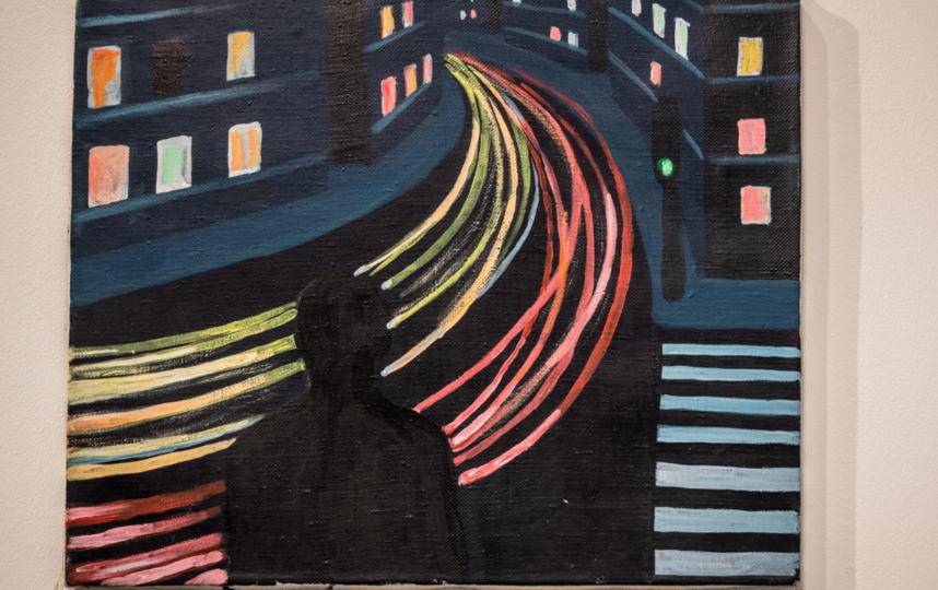 """Выставка """"Виктор Цой. Живопись. Графика. Полароиды"""". Фото Святослав Акимов, """"Metro"""""""