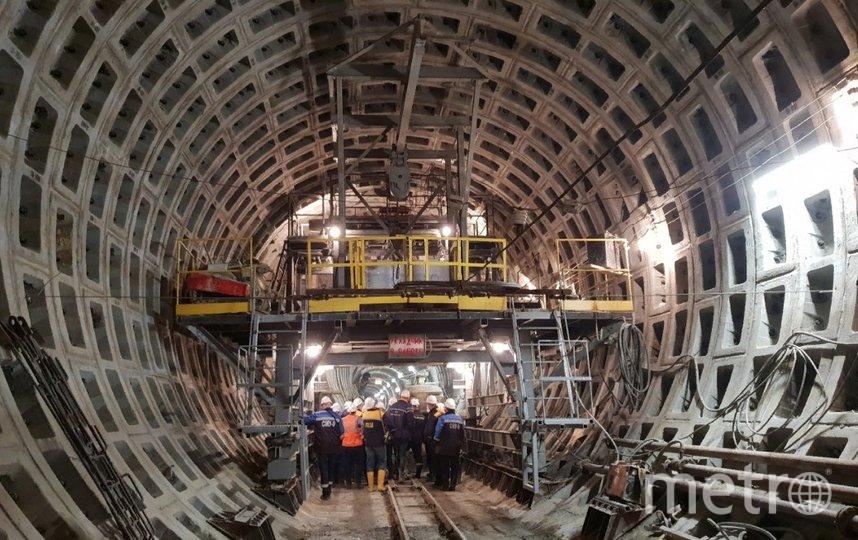 """Строительство """"коричневой"""" линии метро приостановили. Фото vk.com/metrostroy_arhiv."""