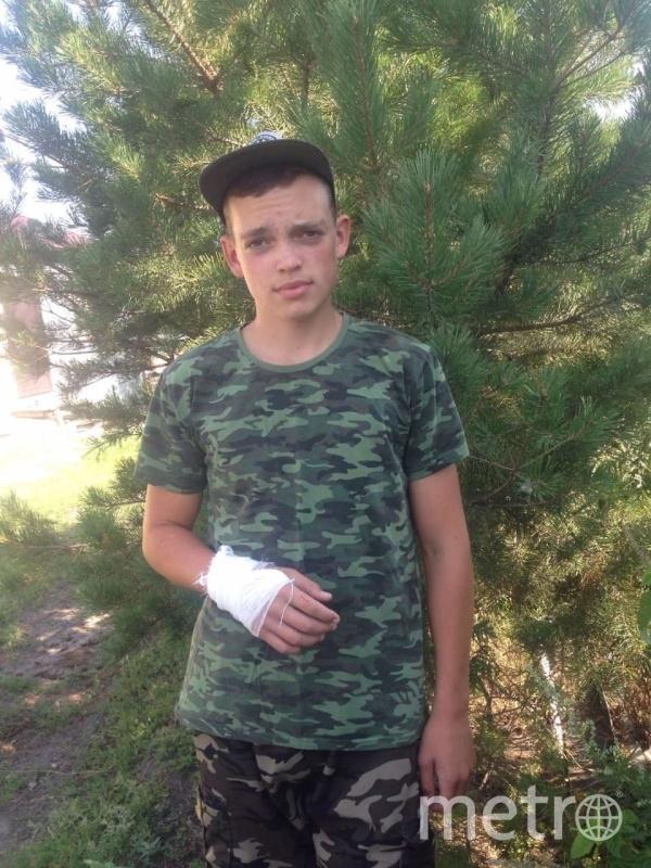 Юный герой, спасший женщину. Фото 64.mchs.gov.ru