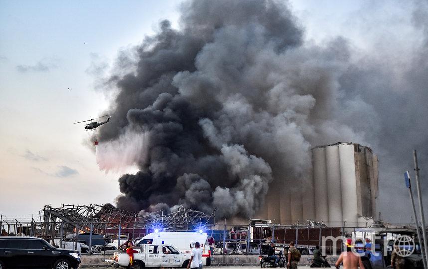 Взрыв в Бейруте уничтожил 85% запасов зерна в Ливане. Фото AFP