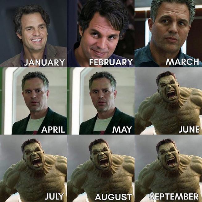 Звезды решили выпустить свою версию календаря 2020. Фото cкриншот instagram @markruffalo