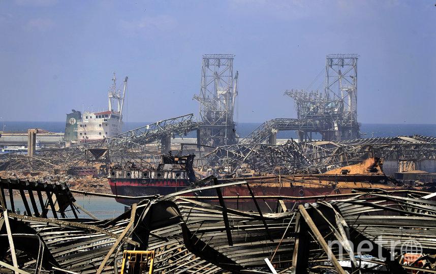 Мощный взрыв прогремел в порту Бейрута вечером 4 августа. Фото AFP