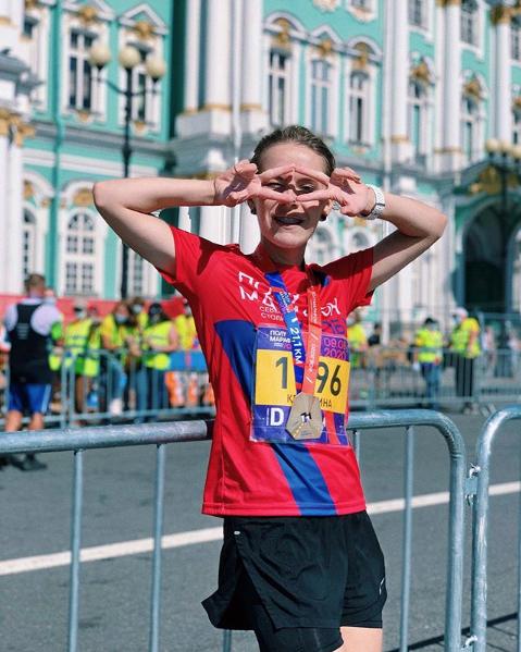 "Участница забега, Кристина Олейник. Фото Скриншот Instagram: @christine_oleynik, ""Metro"""