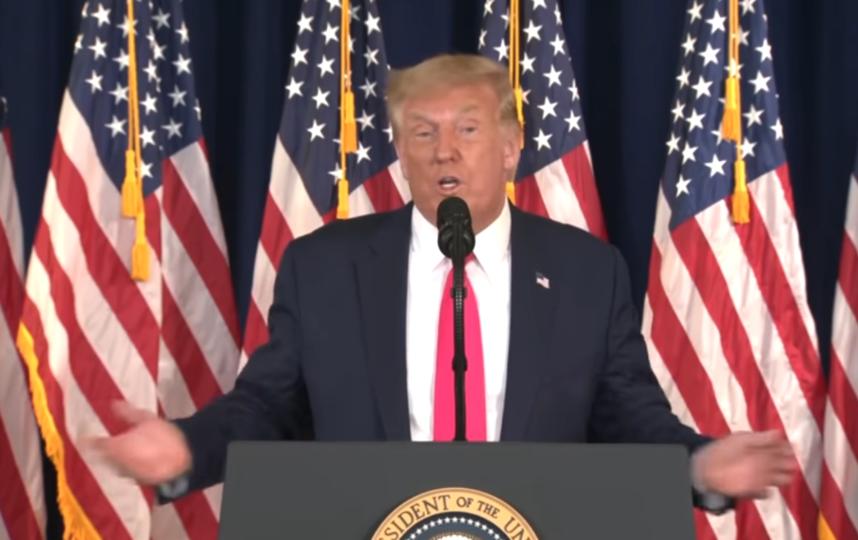 Дональд Трамп. Фото CBSN, Скриншот Youtube