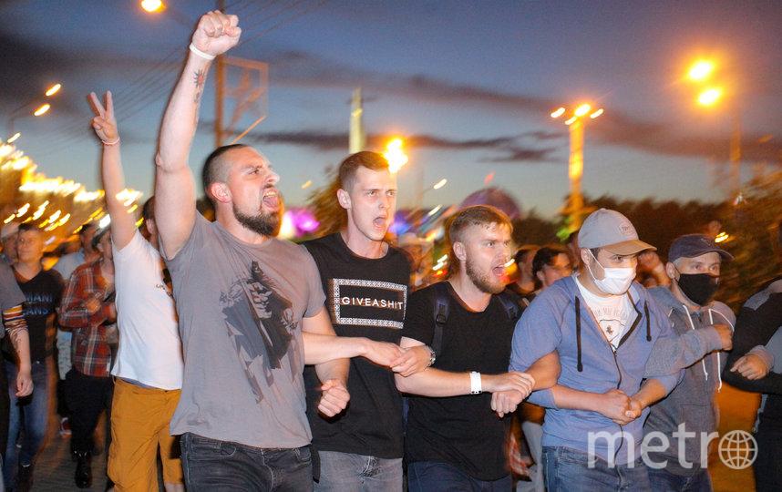 На улицы Минска вышли тысячи молодых людей. Фото AFP