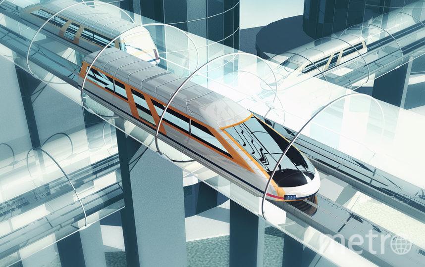 """Левитирующий поезд. Фото Пресс-служба форума """"Сильные идеи для нового времени"""""""