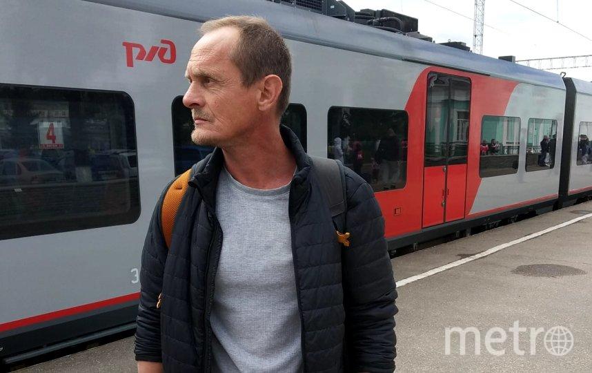 """Илья Питалёв на вокзале в Смоленске. Фото https://www.facebook.com/Ilyapit, """"Metro"""""""