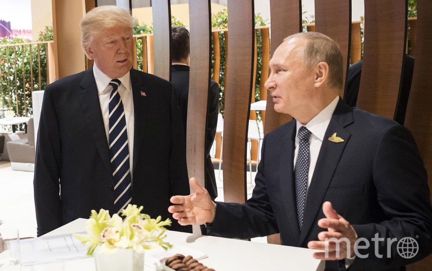 Дональд Трамп и Владимир Путин на саммите G20 в 2017 году. Фото Getty