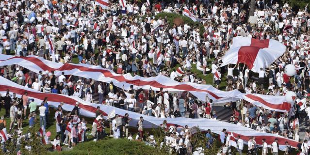 Оппозиционный митинг в Белоруссии.